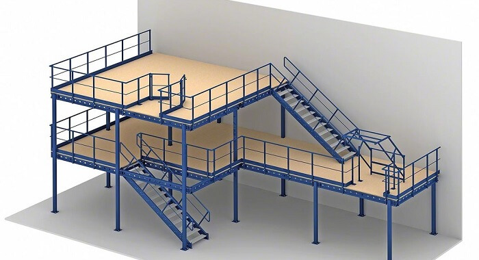 planning a mezzanine floor in a factory or industrial